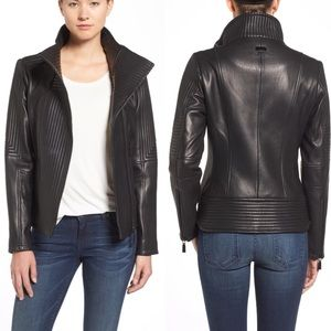 🆕VINCE CAMUTO Lambskin Leather Jacket